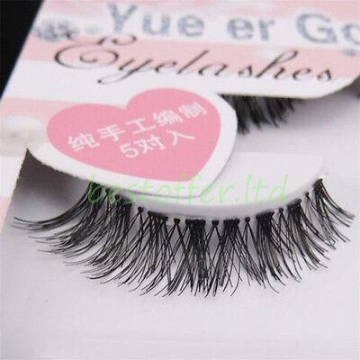 5 Pairs Natural Long Black Eye Lashes Makeup Thick Fake False Party Eyelashes