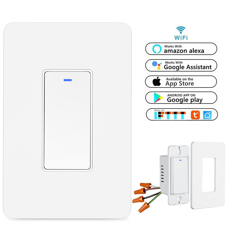 Smart WIFI Light Switch For Alexa Google Home IFTTT With Remote Control&Schedule Home & Garden