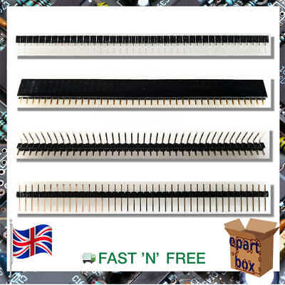 40 Pin Header 2.54mm Single Row Male Female Straight Right Angle