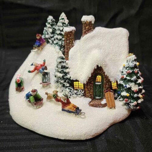 Thomas Kinkade Painter of Light Christmas The Sleigh Ride Light Up House Village