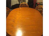 Varnished oak dining room