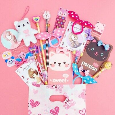 Pre Filled Luxury Kawaii Party Bag Cute Stationery Kids Girls Loot Gift 10 ITEMS