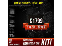 BMW N47 engine codes timing chain replacement with original parts. From £1799!