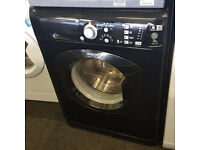 l250 black hotpoint 7kg 1400spin washing machine comes with warranty can be delivered or collected