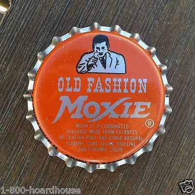 5 Vintage Original 1960s MOXIE OLD FASHION SODA Bottle Cap NOS Unused Moxie Man