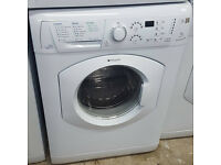 l217 white hotpoint 7kg 1600spin washing machine comes with warranty can be delivered or collected
