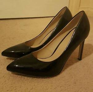 Novo Brand High Heel Stiletto Shoes Patent Leather Look Black 9 Prospect Prospect Area Preview