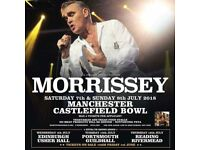 1 x general admission Morrissey 7th July Castlefield Bowl Manchester