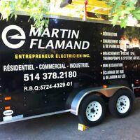 Martin Flamand Entrepreneur Électricien Inc.  514-378-2180