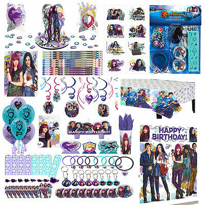 Disney Party Decorations (Disney Descendants 2 Girls Birthday Party SuppliesTableware Decorations)