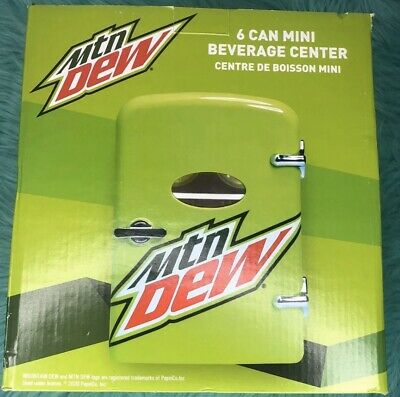 Mountain Dew 6 Can Mini Refrigerator Fridge Beverage Center Car Adapter Home New