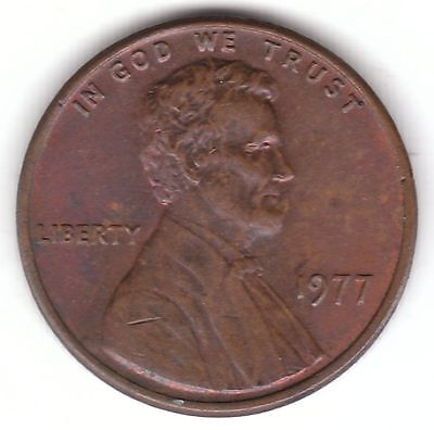 United States 1977 Lincoln Memorial Cent Bronze Coin