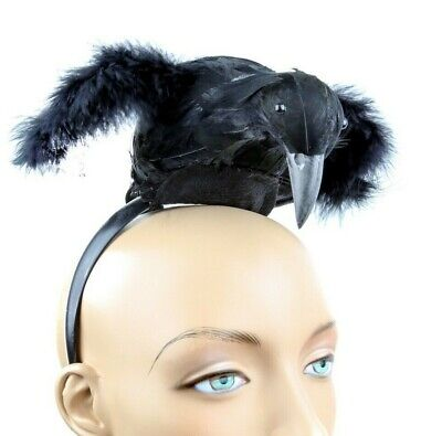 Crow Raven Feather Black Bird Headband Costume Halloween Cosplay Party