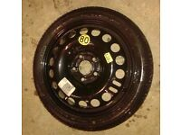 MK5 VAUXHALL ASTRA SPARE WHEEL SPACE SAVER WHEEL WITH TYRE