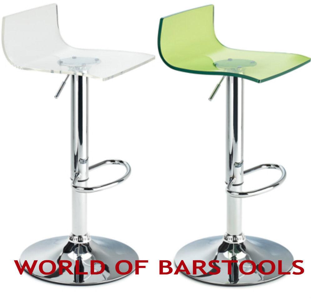 Fusion Acryl Barstuhl Erhältlich in vielen Farben   eBay