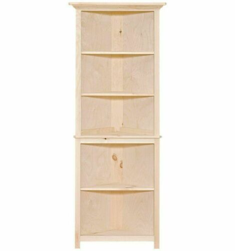 NEW AMISH Unfinished Solid Pine | Primitive CORNER Cabinet | Rustic Handmade!
