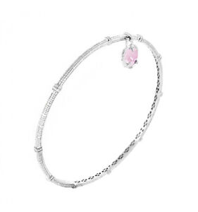 Judith-Ripka-Crystal-Heart-Sterling-Silver-Textured-Bangle-Bracelet