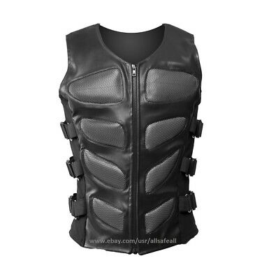 Bug Eye Mens Cyber-Goth jacket Steampunk Halloween Bodice Silver Eye   Vest - Steampunk Jacket Mens