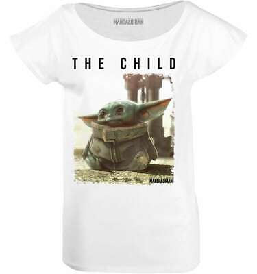 Star Wars - The Mandalorian Baby Yoda Damen T-Shirt (S-XL) Weiß