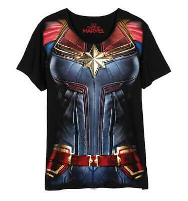 Captain Marvel - Superhelden Kostüm Damen T-Shirt Multicolor (Gr.S-L)