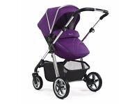Silvercross wayfarer push chair and carrycot. Also comes with footmuff