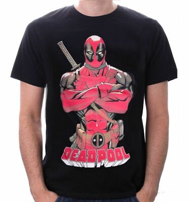 Deadpool Front Pose Marvel Unisex T-shirt Official Licensed Merchandise](Deadpool Merchandise)