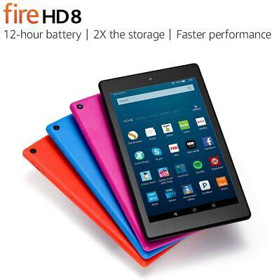 "Amazon Fire HD 8 Tablet 8"" Display 6th Gen 16GB Blue Tangerine Magenta Black"