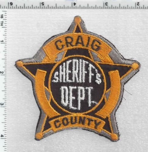 Craig County Sheriff (Oklahoma) 3rd Issue Shoulder Patch