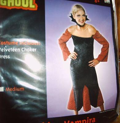 Halloween Fashion (Halloween Costume FASHION VAMPIRA SEXY VAMPIRE Adult Medium, NEW!)