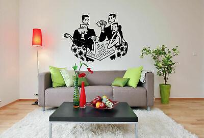 Wall Vinyl Sticker Decal Decor Room Design Casino Game Poker Players Fun bo2085