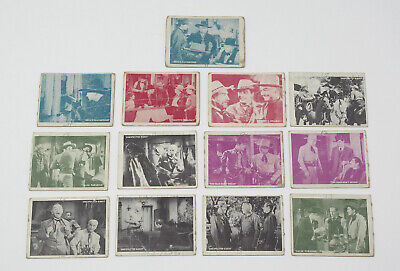 Lot of 13 1950 Topps Hopalong Cassidy Vintage Trading Cards - G to VG-EX