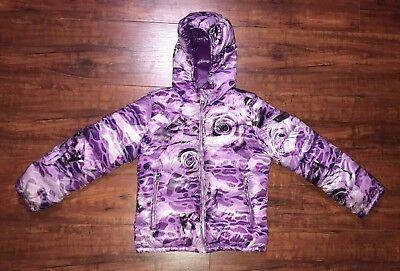 Little Girls Outerwear (Diesel Little Girls Outerwear Lightweight Jacket - Purple Rose Print - Size 5/6)