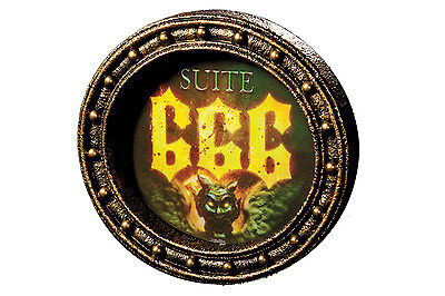 Suite 666 Hotel Changing Gortrait Sign Haunted House Halloween Party Decoration