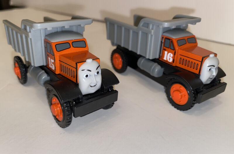 Thomas the Train Wooden Max & Monty Dump Trucks Gullane 2003 Dumpers Work