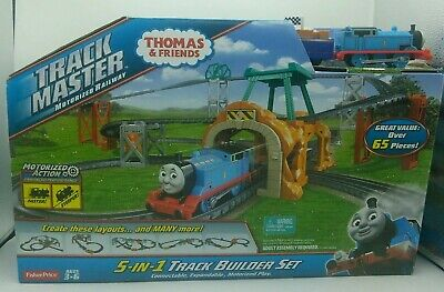 Thomas & Friends 5-In-1TrackMaster Motorized Railway Set, INCLUDES 3 TRAINS!2014