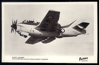 Used, FAIREY GANNET WE 488 British carrier-borne aircraft turboprop.Vtg photo Postcard for sale  Shipping to Canada