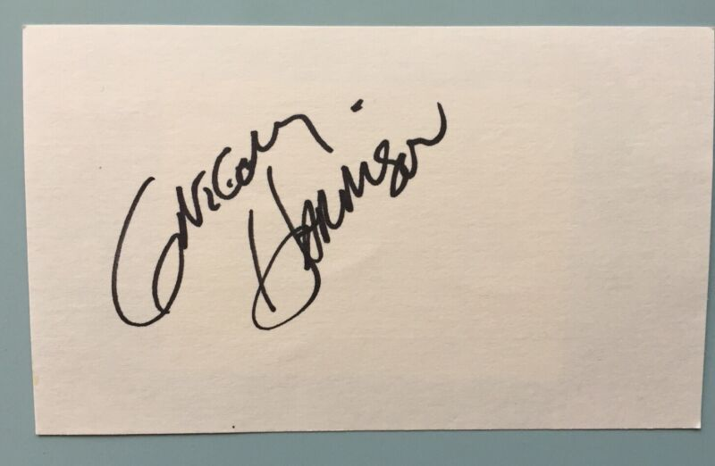 """Gregory Harrison Signed Index Card 3""""X5""""  Gonzo Trapper John, M.D.  Falcon Crest"""