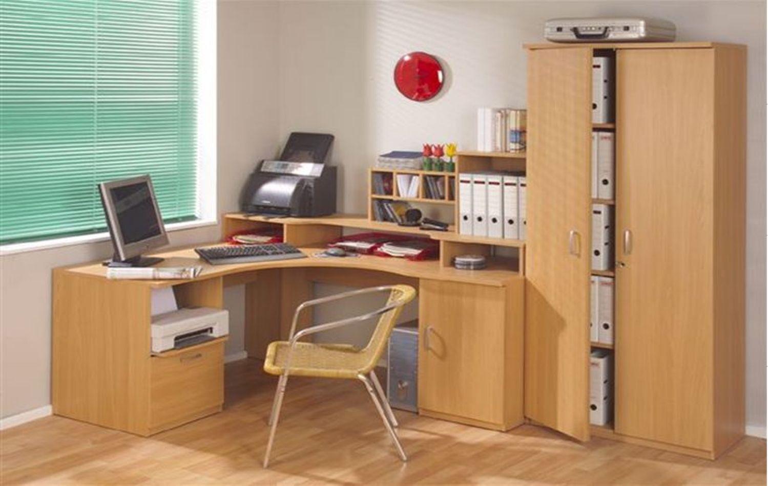 MORGAN Beech Corner Home Office Workstation Computer Desk Study Table HEAVY  DUTY