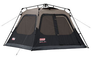 NEW COLEMAN 4 Person Instant Tent Camping Waterproof WeatherTec Camping Outdoor