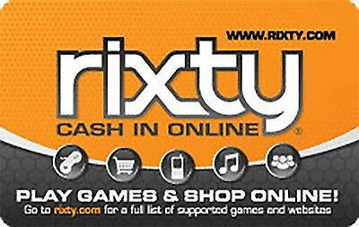 Rixty Gift Card    25  50  100   Email Delivery