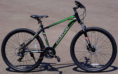 "Navi Aluminum Mountain Bike 27.5"" Wheel Disc Brakes Shimano 21-speed RS100 Green"