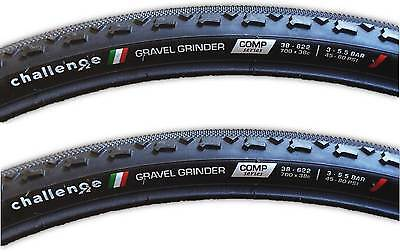 Challenge Gravel Grinder Comp 700X38 Tire Clincher Cx Gravel  Pair   2 Tires