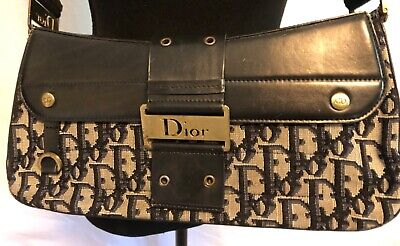 VINTAGE CHRISTIAN DIOR SIGNATURE STREET CHIC BAG WITH ACCESSORIES NAVY BLUE