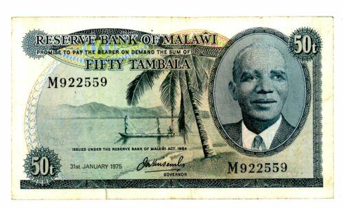 Malawi ... P-9c ... 50 Tambala ... 1975 ... *(~) VF*