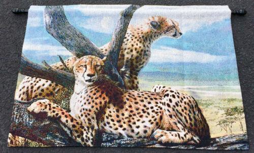 Cheetah Family Tapestry Wall Hanging ~ Artist, Kevin Daniel
