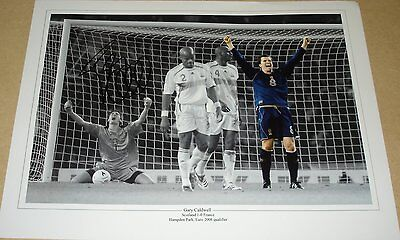 GARY CALDWELL SCOTLAND 1-0 FRANCE PERSONALLY SIGNED 16X12 PHOTO SOCCER