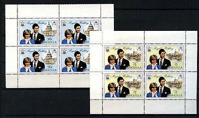 Anguilla 1981 SG#468a, 469a Royal Wedding Booklet Panes MNH Set #D35972