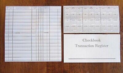 10 CHECKBOOK TRANSACTION REGISTERS CALENDAR 2021 2022 2023 CHECK BOOK REGISTER