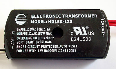 150w Low Voltage Electronic Halogen Transformer (box Of 25) Hd150-120 Import