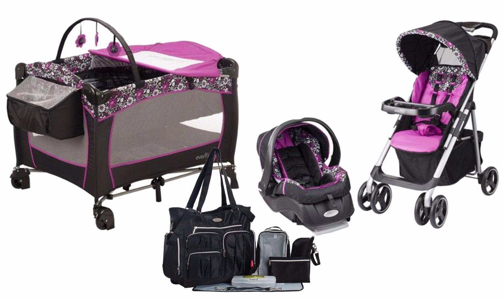 Evenflo Baby Stroller Car Seat Diaper Bag Playard Travel Sys